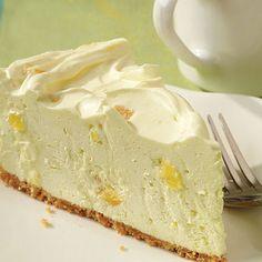 Pineapple Cheesecake @keyingredient #cheese #cheesecake