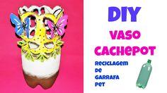 Oi gente, este vaso, cachepot foi feito com garrafa pet. Muito fácil e o resultado, você já sabe! Veja como se faz acessando o link: https://youtu.be/0aNx-zh_z1c