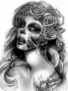 Day of the Dead Girl art