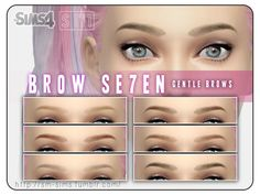 The Sims Resource: Gentle Scupted Brows by Screaming Mustard • Sims 4 Downloads