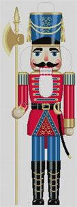 Susan Roberts Designs - Hand-painted Christmas Canvas - Large Nutcracker Soldier