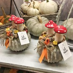 Autumn home decor Pumpkin Arrangements, Clay Fairy House, Clay Fairies, Fall Gifts, Autumn Home, Fall Pumpkins, Fall Halloween, Fall Decor, Diy And Crafts