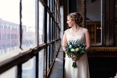 Chicago wedding day bridal portrait at Salvage One by artistic wedding photographer Emma Mullins Photography.