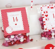 valentine favor toppers- dessert table