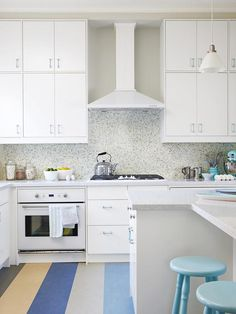 Sarah Richardson's Kitchen Design: Double your storage space by making two rows of upper cabinets. The top ones are great for stashing bulky pieces you don't use every day. http://www.hgtv.com/kitchens/sarah-richardsons-kitchen-design-recipes/pictures/page-6.html