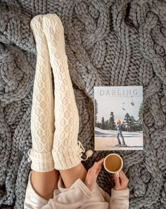 An oversized knit blanket, cable knit socks, coffee... this just feels right. #thisisUGG
