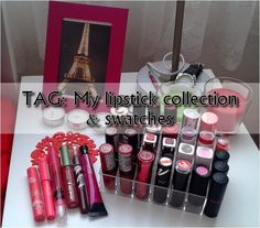 Gate to Neverland: TAG: My lipstick collection & swatches