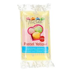 FunCakes Rollfondant Pastel Yellow - Pastellgelb, 250g Pastell Party, Cupcakes, Pastel Yellow, Sparkling Ice, Fondant, Fun, Yellow, Decorating, Fondant Icing