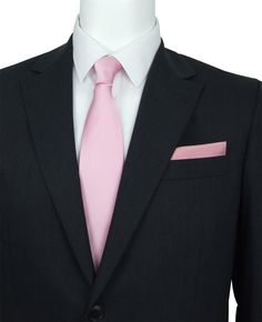91f2c4c614b9 Light Pink Silk Wedding Tie. Pink tie and pocket square. Swagger & Swoon