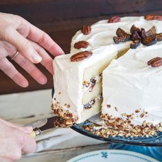 Wildflour's Lady Baltimore Cake With Dried Fruit + Nuts