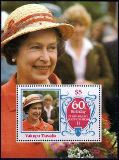 Stamps Tuvalu Vaitupu 1986 Queen Elizabeth 60th Birthday Miniature Sheet Fine Mint For Sale Take a Look!