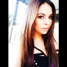 Brown looks great on Janel Parrish. | Pretty Little LIars