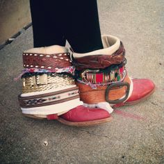 DIY Boho boots - I'm totally going to do this with my old boots!