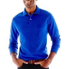 St. John's Bay® Sueded Polo Shirt - jcpenney