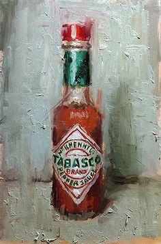 Artwork by Bradford Salamon Drawing Sketches, Art Drawings, Still Life Art, Realistic Drawings, Hot Sauce Bottles, Diy Painting, Art Inspo, Artsy, Bradford