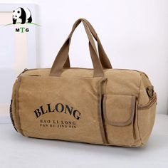 b9146a531563 Women amp Men Canvas Duffle Bag Leisure Waterproof Travel Bag Carry On  Business Trip Luggage Large
