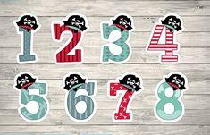 Aplique Números Piratas