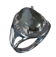 925 Solid Sterling Silver Ring Natural Ice Pyrite Gemstone US Size 6.75 JSR-623 #Handmade #Ring