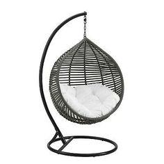 @#! Modway Garner Teardrop Outdoor Patio Swing Chair... Modern Hanging Chairs, Hanging Swing Chair, Swinging Chair, Outdoor Patio Swing, Porch Swing, Outdoor Chairs, Patio Chairs, Hammock Netting, Hammock Swing