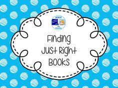 Finding Just Right Books Pinterest Board