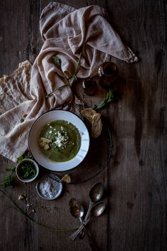 Fava Courgette Soup with Mint