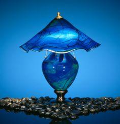 Dennis K. Mullen Glass Lamps & Sculpture: Round Lamp