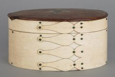 New England oval pan bone ditty box, early/mid 19th cent
