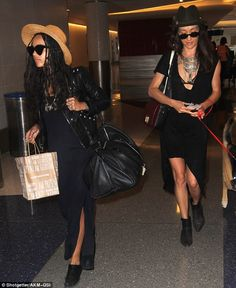 Fashionable friends: Pals Zoe Kravitz and Maggie Q kept true to their reputations as leadi...