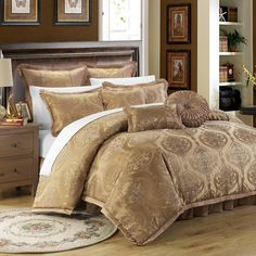 chic home giovani jacquard motif fabric 9piece comforter set by chic home bedroom comforter setsking