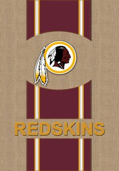 Washington Redskins Logo Stripes Burlap Garden Flag Redskins Logo 762507212