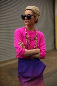 Blaire Eadie. Brights in street style