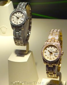 Rolex Diamond Sunburst Ladies Datejust Watches