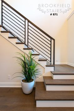 Staircase Railing Design, Modern Stair Railing, Staircase Makeover, Staircase Railings, Modern Stairs, Stairways, Glass Stair Railing, Wood Handrail, Wood Cladding