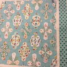 Tomoko's gorgeous baby boy 'Hexagon Puzzle Quilt' - Pattern on my website and Di's lovely 'Scrappy Trip around the World' - Pattern in…