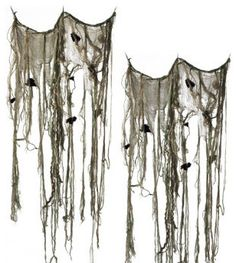 Set of Two Halloween Swamp Curtains - Halloween Decorations and Decor traditional holiday decorations grandiron.com