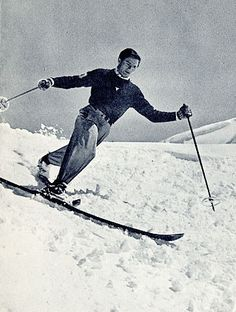 Morgedal - skisportens vugge: vintage Telemark skier Norway is the country where skiing was necessary to get out and about. It's known as the Homeland of skiing. Ski Vintage, Vintage Winter, Ski Et Snowboard, Snowboarding, Alpine Skiing, Snow Skiing, Winter Fun, Winter Sports, Snow Activities