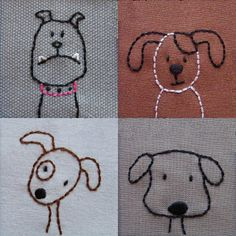 Puppies / Simple embroidery....there are kitties on the site too!!