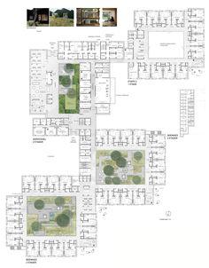 Architecture Concept Diagram, Site Analysis Architecture, Futuristic Architecture, Sustainable Architecture, Architecture Plan, Residence Senior, School Floor Plan, Hospital Plans, University Architecture