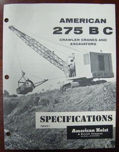 Crane Construction, Earth Moving Equipment, Crawler Crane, Heavy Equipment, Brochures, Vintage Industrial, Caterpillar, Fun Stuff, Cable