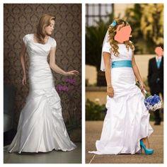 Satin Sheath Modest Wedding Dress In Mesa AZ