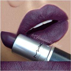 "I'm a sucker for a dark lip!!!!  MAC ""Smoked Purple"""