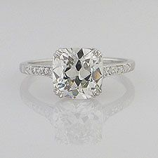 Natural Diamond 2 00 Cut Cushion Cut Diamond Ring   eBay