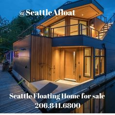 Seattle Houseboats: Seattle Floating Homes For Sale - Seattle Afloat: Seattle Houseboats & Floating Homes Seattle Waterfront, Waterfront Homes, Seattle Homes For Sale, Portage Bay, Floating Homes, Lake Union, Houseboats, Luxury Living, New Construction