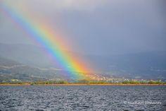 Rainbow over the Ioannina lake in Epirus (photo by Michael Vakaros)
