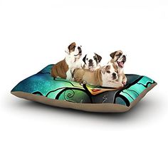 Kess InHouse Mandie Manzano Miss Kitty Cat Villain Dog Bed 30 by 40Inch >>> Click on the image for additional details.