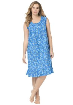 Sleeveless Ruffled Gown by Dreams Plus Size Fashion from Woman Within.