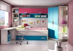 ¿Si quieres tener un espacio único para tu pequeño(a) en donde pueda tener espacio para todo?. Te presentamos una buena opción en donde el (ella), pueda descansar cómodamente, estudiar y tener ordenadamente sus ropas en un closet.