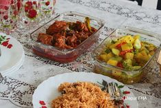 FHA Selemak Santan: SET NASI TOMATO Tomato Rice, Biryani, Guacamole, Mexican, Ethnic Recipes, Food, Essen, Meals, Yemek