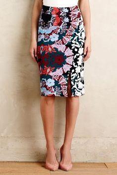 Shinjuku Blooms Pencil Skirt