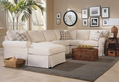 The beautiful and comfy clubfurniture.com Christine Sectional sofa.